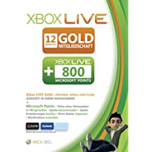 Xbox 360 - Live Gold 12 Monate + 800 Punkte