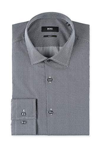 BOSS Black Herren City Hemd Business Freizeit Slim Fit Kentkragen Baumwolle -