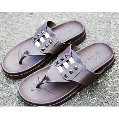 Slippers & amp da uomo;Comfort Gomma Molla casuale Blu Nero Bianco piatto, sandali Pool sandali White