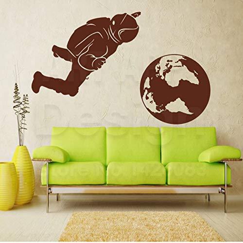 zzlfn3lv Kunst Wohnkultur Vinyl Astronaut und die Erde Wandaufkleber Bunte Haus Dekoration Raum Sport Zimmer Aufkleber 5 Big Size -