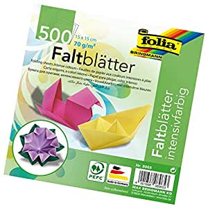 Global Art Folia Solid Origami Paper x 6-inch 500 kg, Card 15 x 15 cm