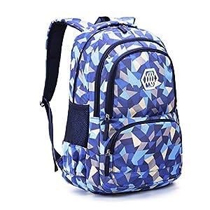 Mochila para niño Bolsa de Escuela, Mochila Mochila – Ideal para 1 2 3 4 5 6 Grado Estudiantes Niños Adolescentes Daypacks Casuales Bolsa de Viaje Uso Diario (Azul)