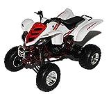 New Ray Yamaha Raptor 660R Weiss Quad 1/12 Modell Motorrad mit individiuellem Wunschkennzeichen