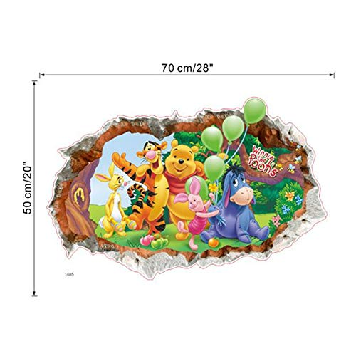 r Zoo Zoo Cartoon Winnie The Pooh Home Bedroom Decal Wall Sticker Children'S Room Wall Decal Kindergarten Party Supply Gift Poster ()