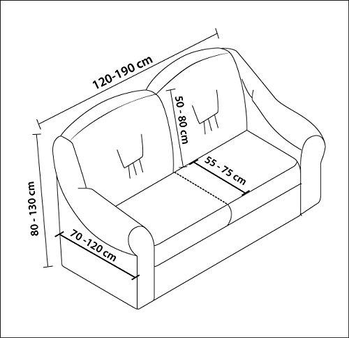 Stretch 2 Sitzer Bezug, 2 Sitzer Husse aus Baumwolle & Polyester. Sehr elastische Sofaueberwurf in creme. Sofabezug Hussen Sofahusse Stretch Husse / Stretch Hussen / Sofahusse 2-Sitzer / Sofabezug 2 Sitzer - 2