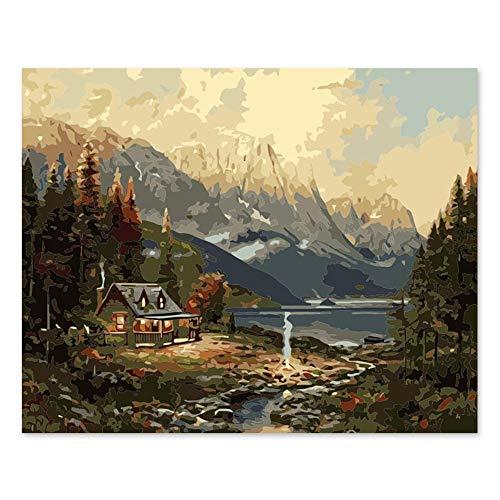 PAINTYTY Malen Nach Zahlen Kunst Malen Nach Zahlen Wohnkultur Europäische Landschaft Malerei Öl Thomas Hand Coloring -