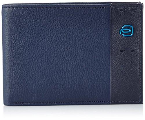 Piquadro Pulse Portafoglio, Pelle, Blu, 12.0 cm