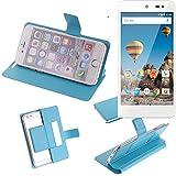 Flipcover Schutz Hülle für General Mobile GM 5, blau