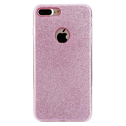 BING Für IPhone 7 Plus Glitter Powder Soft TPU Schutzhülle BING ( Color : Black ) Pink