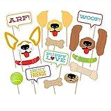 DMMASH Puppy Dog Photo Booth Party Favor Kit, Photo Booth Props Kit De Bricolaje para Boda, Cumpleaños, Fiesta, 20 Piezas