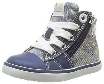 Geox B Kiwi G, Baskets mode bébé fille - Bleu (Avio), 20 EU