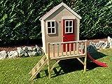 Kinderspielhaus mit Fenstern, Leiter, Rutsche (Wendi Toys) - 2