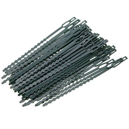 Ao Tuo 50 Packungen Twist Tie Green Plant Soft Ties Kunststoffbeschichteter Haltedraht Multipurpose Cable Organizer (Haare Wachsen Schnell Schwarze)