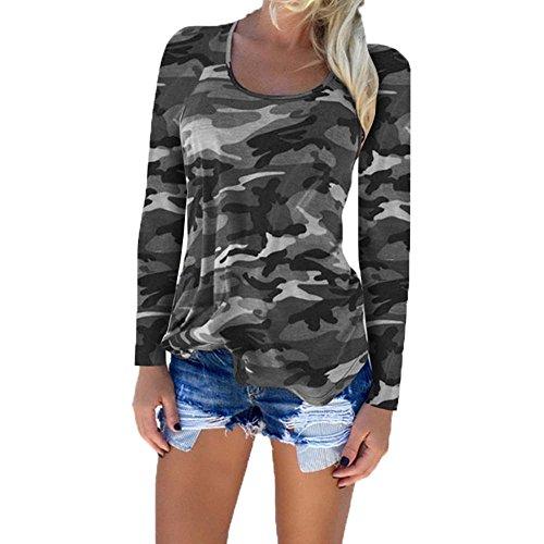 Camicie da donna Camouflage Camicie militari Camouflage grigio