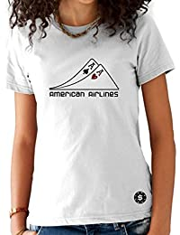 T-shirt Femme Poker Blanc - Paire d'As Américan Airlines
