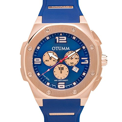 Otumm Speed Rose Gold 006 blau 53 mm Unisex Speed Armbanduhr