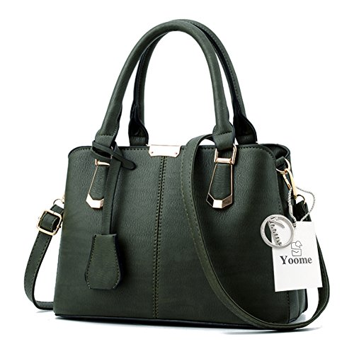 Sacchetti di Yoome per le donne Top Handle Satchel Borse eleganti per borse da regalo Fashion Strap Bag - L.Grey verde