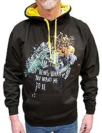 Felpa Con Cappuccio e Tascone Centrale Unisex Fashion 80% Cotone 20% Poliestere (VERIFICA LA TUA TAGLIA DALLA SCHEDA) Chester Bennington Linkin Park Numb Rock Band