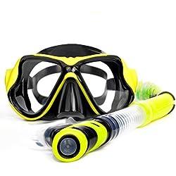 DWCC Sports Nautiques Entraînement Snorkeling Lunettes De Natation Équipement Anti-Buée Silicone Masque De Plongée Masques De Plongée Snorkel À Sec