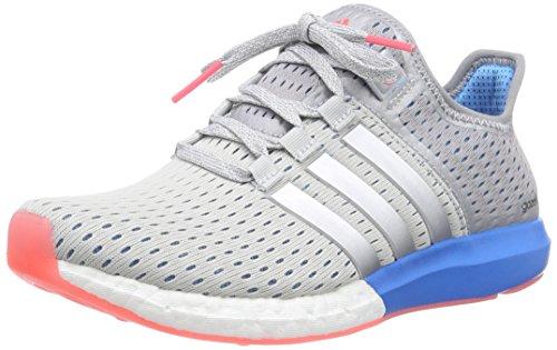 adidas Climachill Gazelle Boost, Chaussures de Running Compétition femme, Grau (Clear Grey/Silver Met./Solar Blue2 S14), 37 1/3 EU