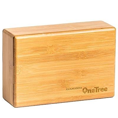 OneTree Bambus-Yogablock Meditationsblock aus 100% Bambus (Yogaklotz)