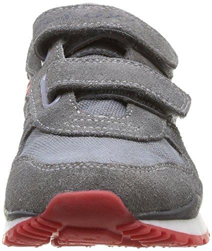 Geox J Pavel E, Jungen Sneaker Grau - Gris (Grey/Red)