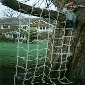 Residential Polyhemp Scramble Net 9ft x 6ft for Childrens Climbing