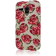 Mpero Snapz Series - Carcasa de goma para Motorola Moto G, diseño de rosas rojas