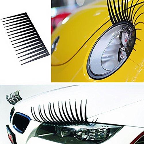 KKmoon 2Pcs nettes reizendes Auto-Scheinwerfer-Wimper-Aufkleber 3D Dekoration-LKW-Beleuchtung-Selbstabziehbilder Auto-Anreden-Außen-Zusätze