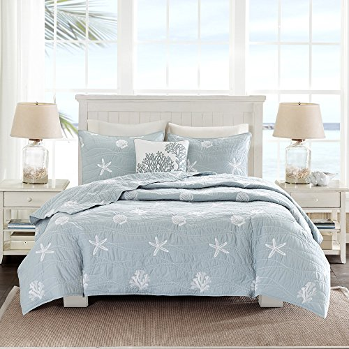 Harbor House Seaside Bettwäsche-Set für King/California King King Size, Blau - California Navy King Quilt