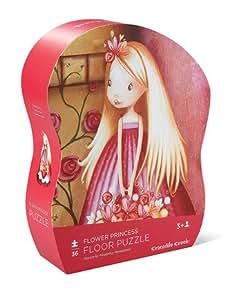 Crocodile Creek - Puzzle géant Flower Princesse (36 pièces) - Rose