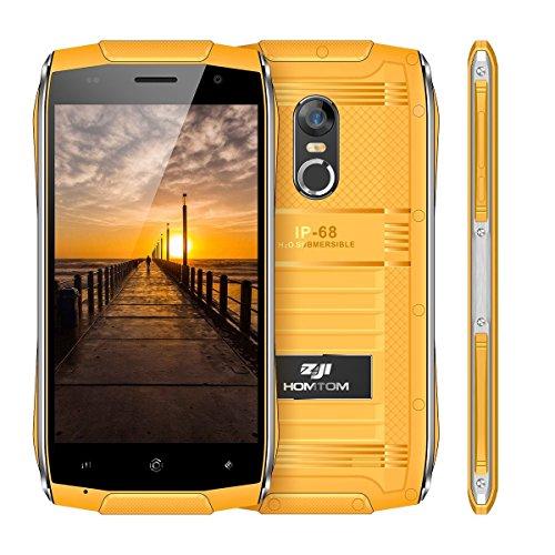 ZOJI Z6 3G Smartphone Ohne Vertrag (Android 6.0, IP68 Wasserdicht Outdoor Handy, 1GB Ram+8GB Rom, Dual-SIM Quad-Core, 4,7 Zoll Touch-Display, Dual Kamera, Fingerabdruck GPS ) - Orange