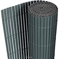 Protección Visual de PVC Revestimiento de Balcón Cierre 200x300 cm Color Gris