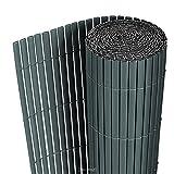 [neu.haus] Tappetino in PVC (150x300cm) (grigio) Protezione visiva / Protezione antivento / Recinzione da giardino / Recinzione per balconi / Recinzione