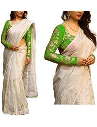 Shayam Krishna Textile Cotton Silk Saree(PD151SR2590_1_White_Free Size)