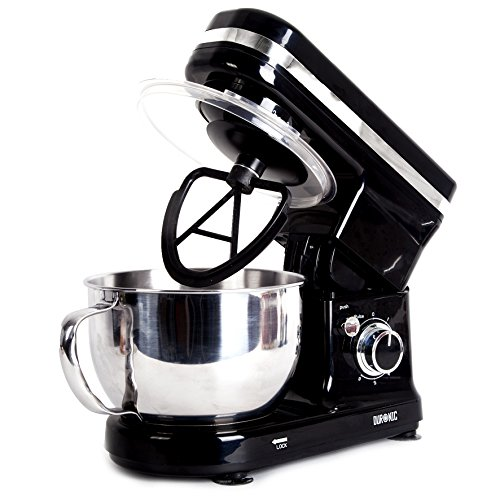 51GYodjOsML. SS500  - Duronic SM100 /BK Powerful Electric Food Stand Mixer with planetary mixing action and 3 mixing attachments