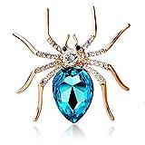 MeiPing Broche Grande de Moda con Broche de araña Viuda Insecto de araña de Cristal