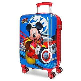 Disney Maleta de cabina Mickey World rígida 55cm, Multicolor