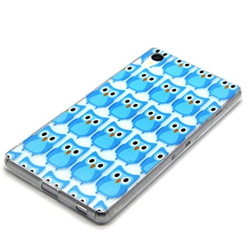 Voguecase® für Apple iPhone 5C, Schutzhülle / Case / Cover / Hülle / TPU Gel Skin (NEW YORK) + Gratis Universal Eingabestift Blau Eule 01