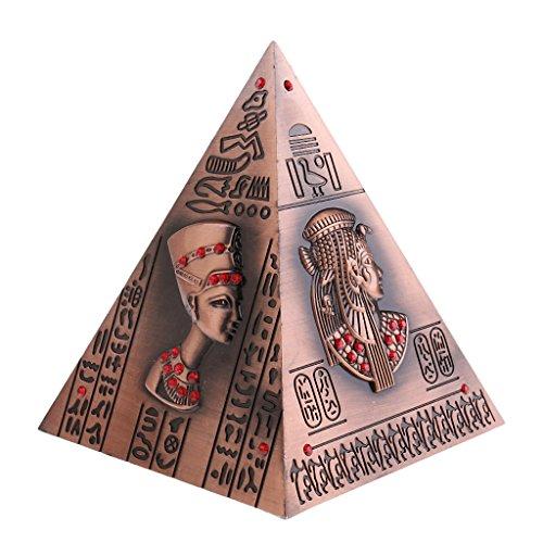 Hucha Alcancía Forma Pirámide Egipto Metal Modelo