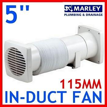 "Marley Bathroom Extractor Fan 5 Inch 5"" In-line ..."
