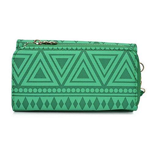Kroo Pochette/étui style tribal urbain pour ZTE Blade G Lux/qlux 4G Multicolore - White with Mint Blue Multicolore - vert