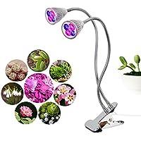 Luz Cultivo Iseebiz LED Plantas Crecimiento Interior 10W Lámpara para Crecimiento de Planta,360°de Rotación para hogar y Jardín ,Bajo Consumo.