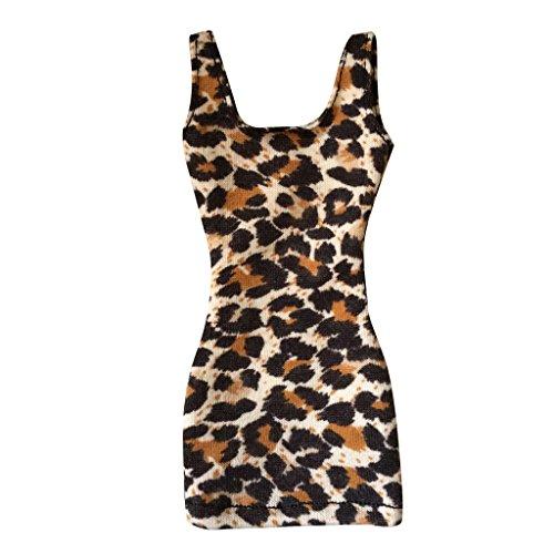 MagiDeal Weibliche Figur Kleidung, Leopard druckte, 13cm Länge