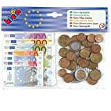 Theo Klein 9612 - Euro Kindergeld mit Kopfkarte Münzen, Scheine