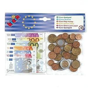 Theo Klein-9612 Euro Dinero para Jugar, Juguete, Multicolor (9612)