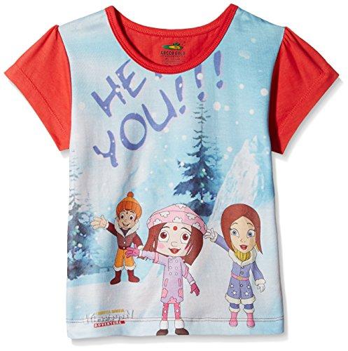 Chhota Bheem Girls' T-Shirt (GGAPP-CB417B_Multicolor_3 - 4 years)