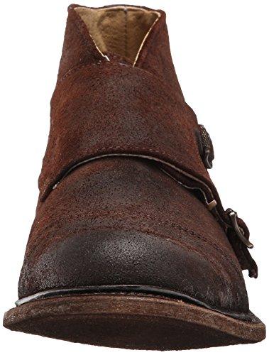 FRYE Mens Jack Monk Boot Dark Brown Waxed Suede