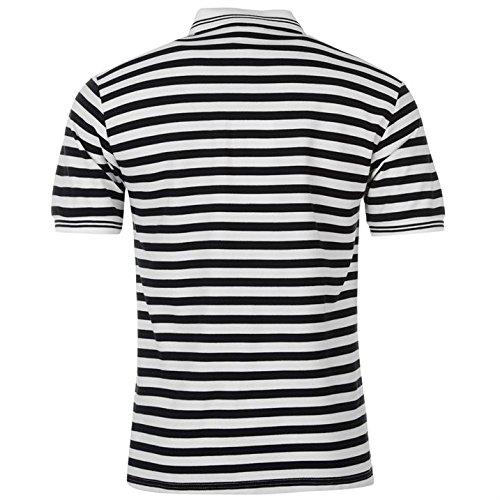 Lonsdale Herren Poloshirt Weiß/Marineblau