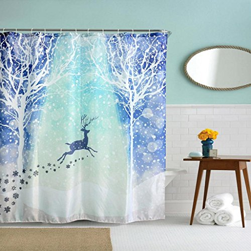 feitong-christmas-kids-waterproof-polyester-bathroom-shower-curtain-decor-with-hooks-new-180180-mult